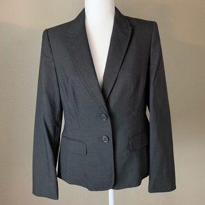 Anne Klein Women's Work 2-Button Grey Blazer Sz 6